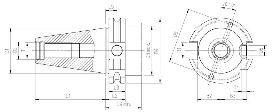 werkzeugaufnahmen steilkegel din 69871 sk30 sk40 sk50. Black Bedroom Furniture Sets. Home Design Ideas